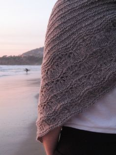 "A beautiful Terra Shawl, knit in Shelter ""Nest"". Created by Ravelry user Bunnywatson; pattern by Jared Flood"