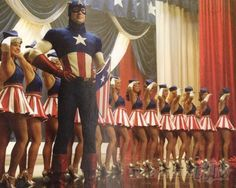 captain america girl/dancer for halloween...must find someone to be the Captain though :(