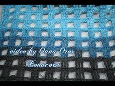 crochet stitch full& empty squares - YouTube