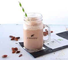 Peanut+Butter+Banana+Choffy+Smoothie+1/4+cup+peanut+butter+1+banana+1+scoop+chocolate+protein+powder+12+oz+strong+brewed+ivory+coast+choffy+(12oz+water,+4+Tbsp+choffy),+cooled+1+cup+ice+cubes+Combine+in+all+ingredients+in+blender,+blend…