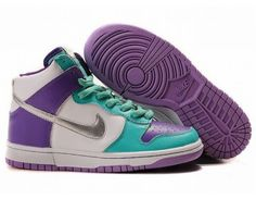 brand new 97807 2bc63 Womens Nike Dunk High Shoes - Purple White Blue - Wholesale Outlet Discount  Nike Dunk High Shoes sale, Original Nike Dunk High Premium sneakers new  arrivals ...
