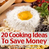 These 20 easy cooking tips that will help you get in and out of the kitchen faster and save time and money!