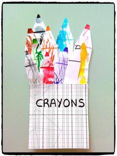crayon de couleurs, bricolage enfant, rentrée scolaire, école maternelle