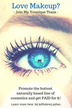 Make money sharing your love of Younique makeup. Only $99 to join and you get over $250 worth of Younique products. Get a free website, get paid daily, and no auto-shipments. Learn more or sign up here: https://www.youniqueproducts.com/RobinMiller/business/presenterinfo#.VRuCaTvF-rs
