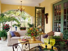 Pretty Screened Porch ~ Via Southern Living ...