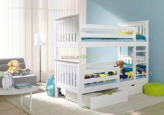 Łóżko piętrowe Pako | Stolarnia | łóżka piętrowe | 1 007,00 zł - sklep meblowy Meble BIK