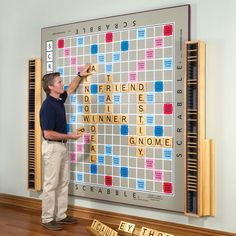 yeah scrabble! awesome and intellectual feature wall...unfortunately also uber expensive!