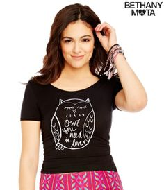 Owl Crop Top - Summer Bethany Mota Collection