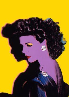 """Caroline of Monaco"" - Andy Warhol {female head woman face profile portrait painting} Pop Art !!"