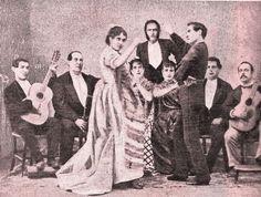 Café Imparcial de Madrid. Maestro Pérez, Antonio el Pintor y Juan Breva, entre otros.
