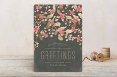 Holiday Blossoms by Chris Griffith at minted.com
