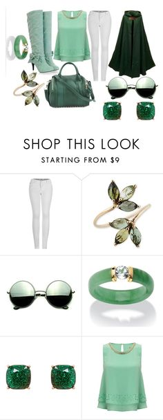 """""""Slytherin"""" by elli-jane-xox ❤ liked on Polyvore featuring 2LUV, Alexander Wang, Revo, Palm Beach Jewelry, Humble Chic and Lipsy"""