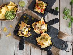 Nacho-Raclette für einen mexikanischen Abend.