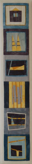 Erin Wilson Quilts » Totems  use as a gift with person's favourite things - garden food etc