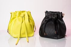 Saut Bucket Bags by #Repetto in Star yellow and in black - Collection fall-winter 2015. bit.ly/1LLOoZ1