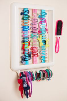 The Hair Helper is a unique hair accessory organiser to store all your hair accessories. Choose your frame, ribbons and even personalise it with your name.