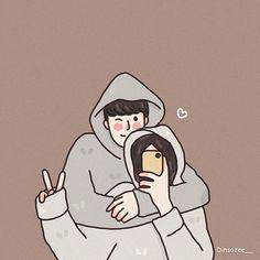 Cute Couple Drawings, Cute Couple Cartoon, Cute Couple Art, Cute Love Cartoons, Anime Couples Drawings, Cute Couple Pictures, Cute Anime Couples, Cute Drawings, Chibi Couple