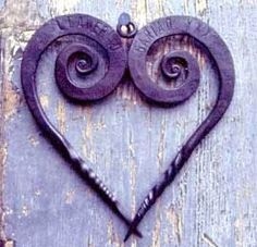 metal purple heart #Pinterest Pin-a-way by http://www.JoannaMaGrath.com