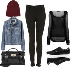 """""""Requested: Outfit with Black Pumas"""" by eleanorcalder-lookbook ❤ liked on Polyvore"""