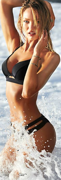 Candice Swanpoel for Victoria's Secret Swim 2015