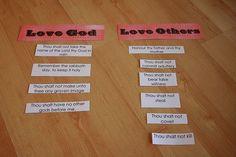 Ten Commandment Activity