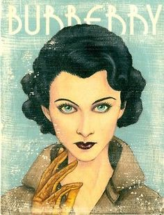 Vivien Leigh, ad for Burberry