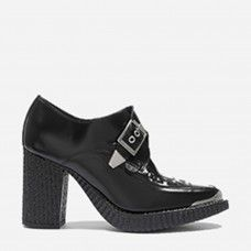 Underground Shop | Marquee Heeled Creepers Black Leather | Shoes,Creepers,Underground,England,TUK