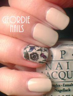 Geordie Nails: MoYou  #notd #nailart