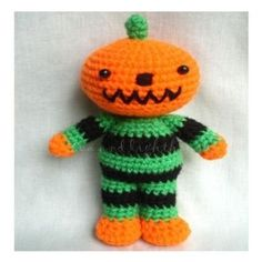 Amigurumi Cute crochet Toys and Carfts shop : Amigurumi crochet patterns-Jack the Pumpkin e-pattern Crochet Pumpkin Pattern, Halloween Crochet Patterns, Crotchet Patterns, Crochet Patterns Amigurumi, Crocheting Patterns, Crochet Fall, Cute Crochet, Crochet Crafts, Crochet Toys