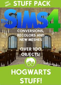 The Sims 4: Hogwarts Stuff (part 1 of 3 Harry Potter CC packs)It's finally here…