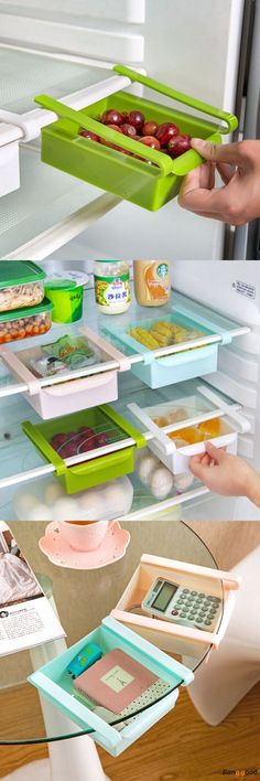 US$ 6.47 + Free shipping. Plastic Kitchen Refrigerator Fridge Storage Rack, Freezer Shelf Holder, Kitchen Organization. Material: Plastic. Color: White, Blue, Green, Pink. More Room with This Gadget.