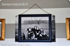Staples will print huge black and white pictures.  Just ask for an engineering print.  They can go over 3 feet wide and really long.  Just bring in the jpeg on a flash drive and they uploaded and printed in about 5 minutes.  The best part... It costs $4.99!!