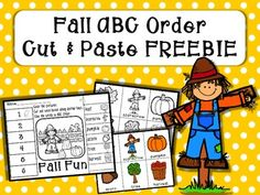 Fall Fun ABC Order Cut and Paste Printable---FREEBIE