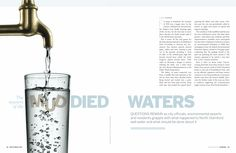 Muddied Waters  •  Stamford Magazine 2010  •  photo by istockphoto.com  •  art direction & layout by Garvin Burke