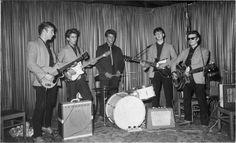 1960 - The Beatles (John Lennon, George Harrison, Pete Best, Paul McCartney and Stuart Sutcliffe.