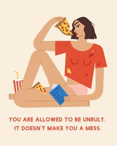 Illustration by Noa Snir, daily affirmations by Amy Rose Spiegel