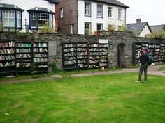 Open air bookshop in Hay-on-Wye
