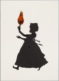Kara Walker, cut black paper and pencil