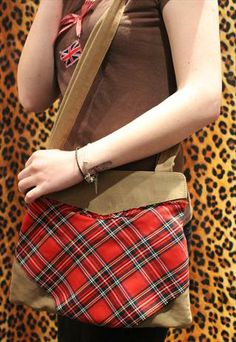 This gorgeous hand made Pretty Disturbia Brown & Tartan bag for £10 perfect for dressing up or dressing down any outfit.    ** click here to buy ** https://marketplace.asos.com/listing/bags/pretty-disturbia-punk-grunge-brown--tartan-small-bag/1468685