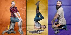 Unforgettable photo series by talented American photographer Rion Sabean.      Men-Ups! calendar features images of men in different pin-up poses.