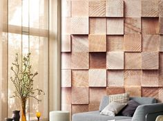 East or South-east a touch of wood with this trompe -'l'oeil wall-paper. Casadeco