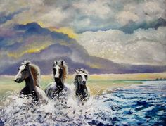 ARTFINDER: startled by the coming storm by Rod Bere - inspired by my love of horses