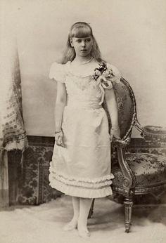 H.R.H. Princess Beatriz of Saxony-Coburg and Gotha, Infanta of Spain, Princess d'Orleans and Duchess of Galliera, née Princess of Edinburgh (1884-1966). Circa 1895