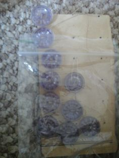 vintage lilac buttons by HABERDASHERYHAVEN on Etsy