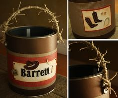 Cowboy buckets from paint cans @Chris Stoflet Durnan  how adorable are these!?