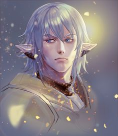 Final Fantasy Artwork, Final Fantasy Xiv, Fantasy Series, Fantasy World, Character Art, Character Design, Final Fantasy Collection, Dark Elf, Albino