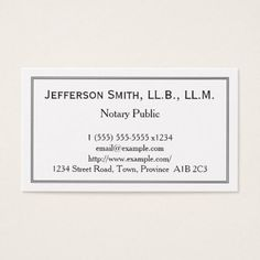 #customized - #Minimal Notary Public Business Card