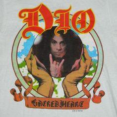 Vintage DIO NOS 1985 SACRED HEART TOUR T-Shirt concert
