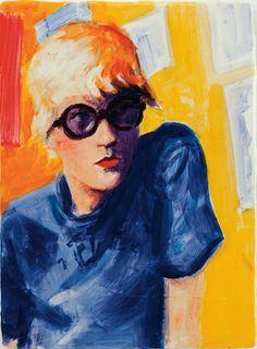 Elizabeth Peyton ~ David Hockney, Powis Terrace Bedroom, 1998 (oil)