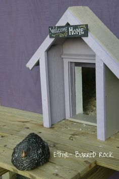 I think this built-out doorway is so cute! Welcome home, chickies :) Navychick's Page - BackYard Chickens Community